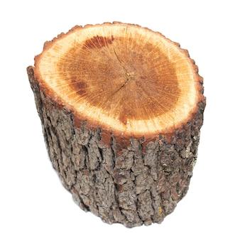 Деревянный пень изолирован