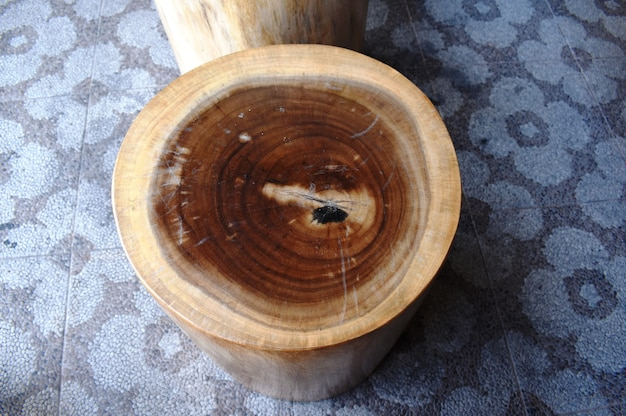 Wooden stump or natural style wooden chair