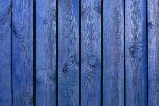 Деревянная поверхность из синих вертикальных досок текстура древесины с копией пространства