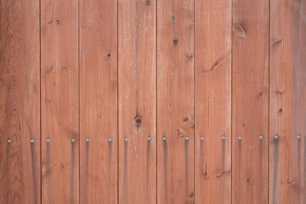 Деревянная поверхность из вертикальных коричневых досок текстура древесины с копией пространства