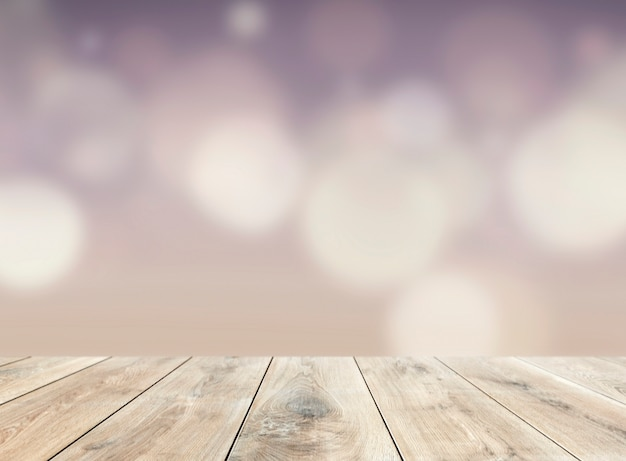 Wooden table product background
