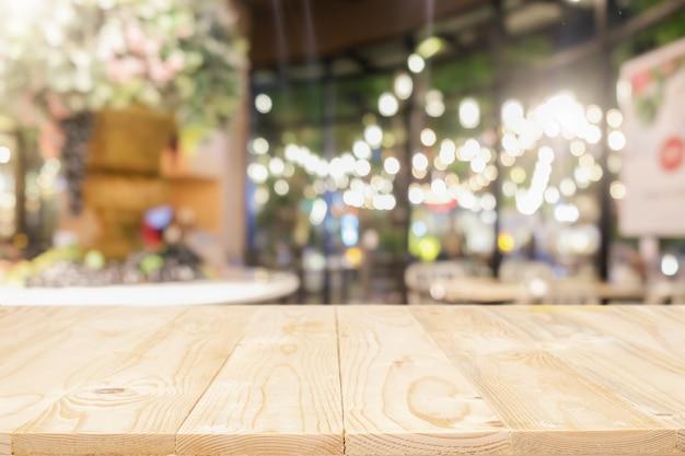 배경 흐리게 나무 테이블