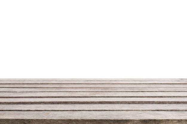 背景が白の木製テーブル