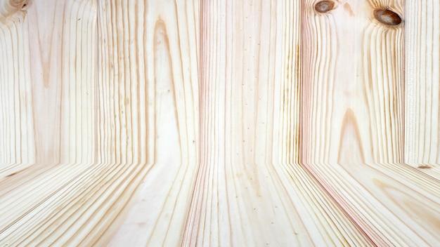 木製の壁の背景に木製卓上型 Premium写真