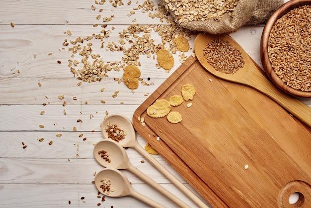 木製食器シリアル製品木製背景
