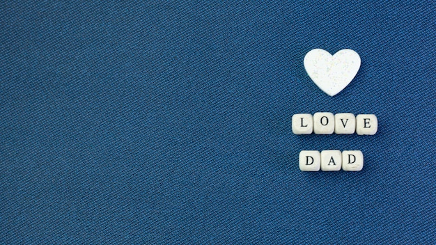 Wooden text  for father day
