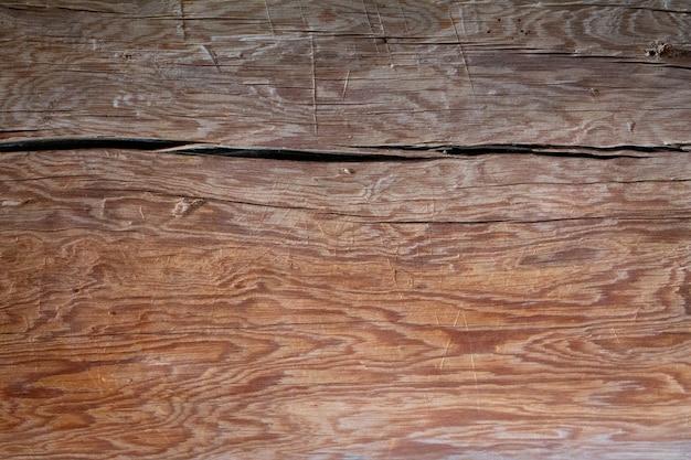 木製のテクスチャ空の水平面デザインのための木製のヴィンテージ背景スペース