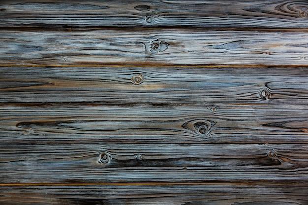 木製のテクスチャです。テーブル面。天気古い青と白の板ウッドの背景。ヴィンテージレトロスタイル