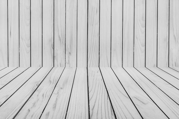 木製のテクスチャの壁と床のコーナーの背景