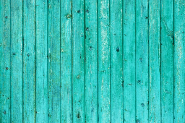 Wooden textured background of bright blue boards