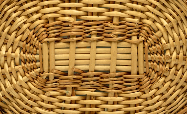 Wooden textured or basket background. weave pattern made from wood material. wicker