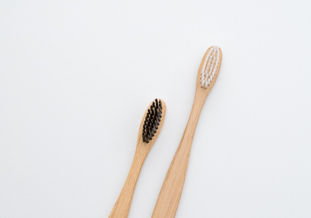 Wooden toothbrushes for the care of teeth