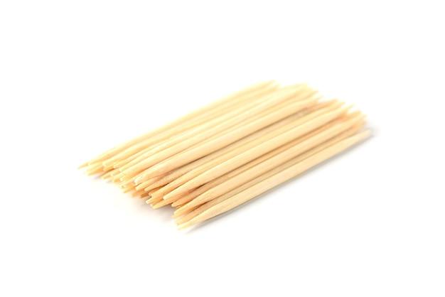 Wooden toothpicks isolated
