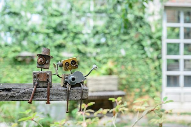 집에서 식물원 장식을 위한 나무 장난감