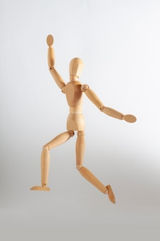 Wooden toy jumping