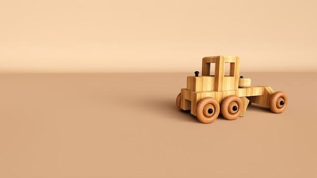 木のおもちゃのミニトラック