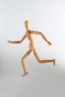 Wooden toy running