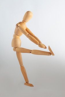 Wooden toy stretching