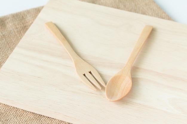 나무기구 (숟가락, 포크, 나무 접시)