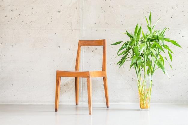 Wooden vase chair luxury white