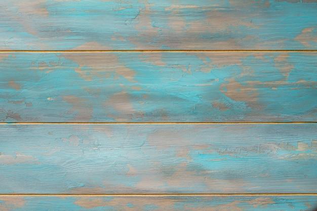 デザインのための木製ヴィンテージ背景スペースブルーパステル木製テクスチャ空の水平面