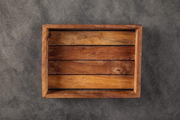 Деревянный винтажный темно-коричневый сервировочный поднос