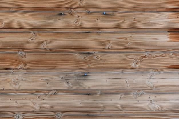 木製の壁。天然木の質感。コピースペースのある素朴なボード。