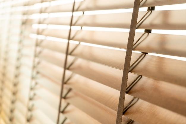 木製のブラインド