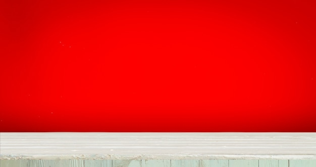 Wooden with red background