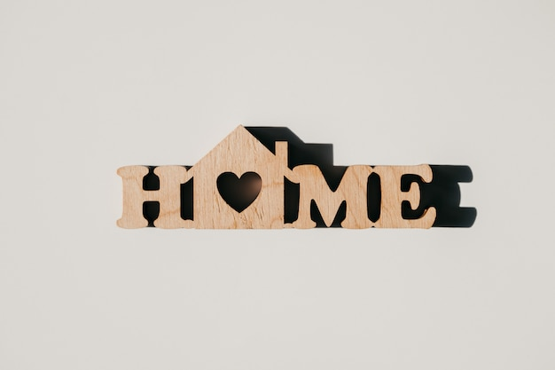 The wooden word home