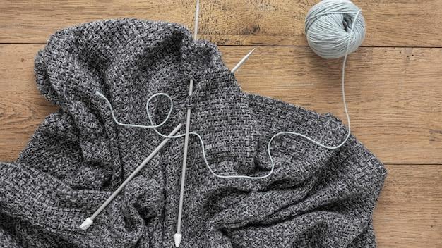 羊毛と編み針