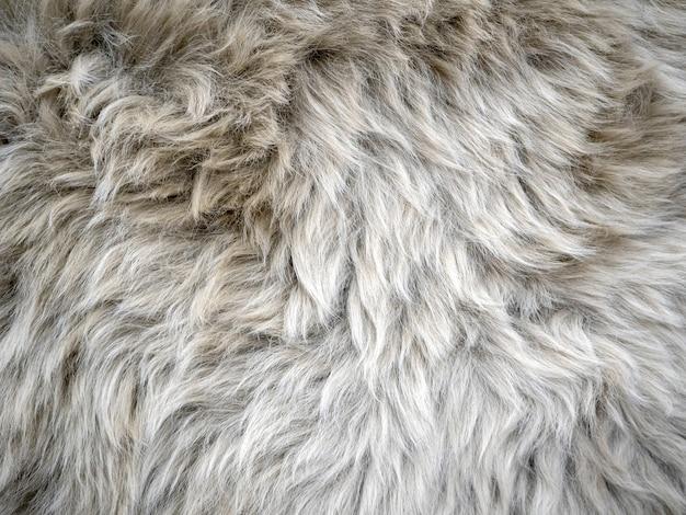 Wool background. faux fur detail
