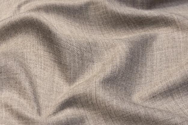 양모 직물. 색상 베이지. 질감, 배경, 패턴.