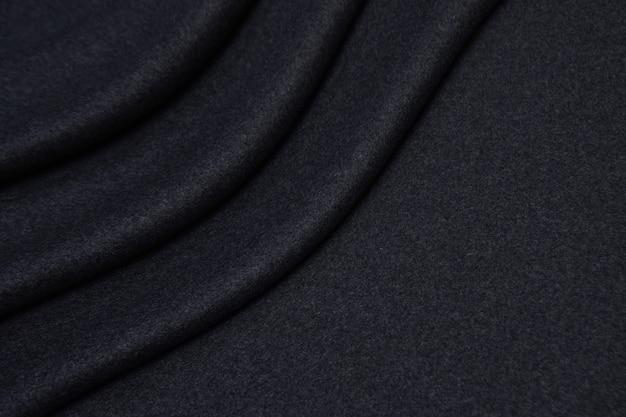Шерстяная ткань в серой текстуры крупным планом