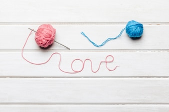 Wool forming love word