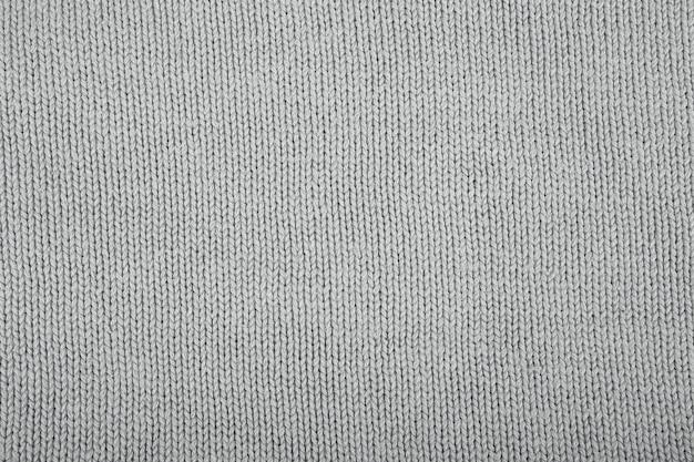 ウールのセーターの質感をクローズアップ。レリーフ柄のニットジャージー背景。機械編みパターンのブレード