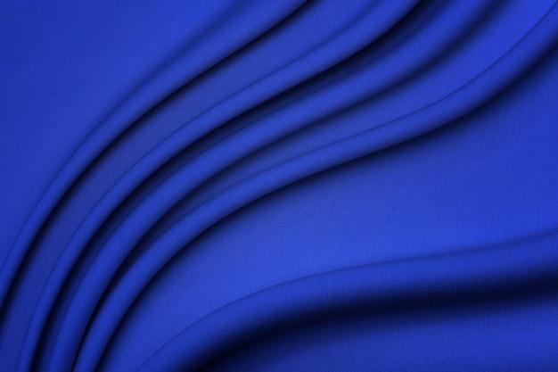 ウール生地。色はブルーです。