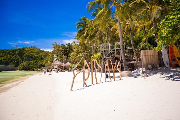 Word friday made of wood on boracay island