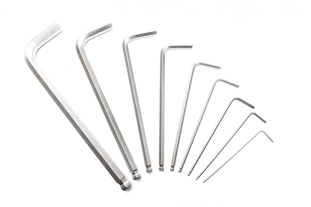 Word from hex keys on white