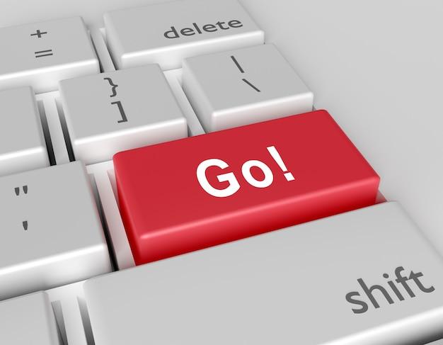 Word go! written on a computer keyboard