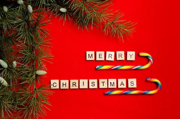 Слово рождеством в письмах и санях. с рождеством и новым годом фон