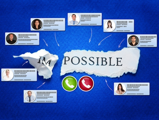 The word possible with video conference contacts