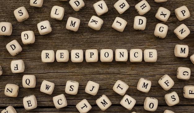 나무 빌딩 블록, 스톡 이미지로 만든 단어 응답