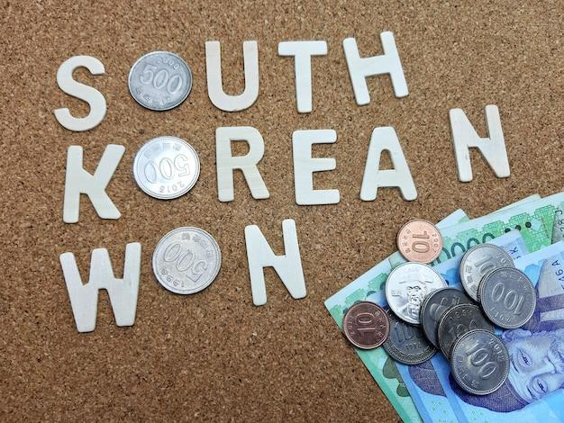 Word of south korean won