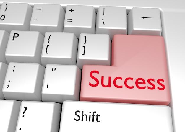 Word success on computer keyboard