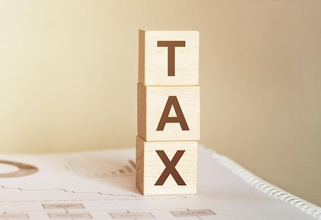 木の積み木で作られた単語税