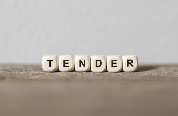 Word tender made with wood building blocks