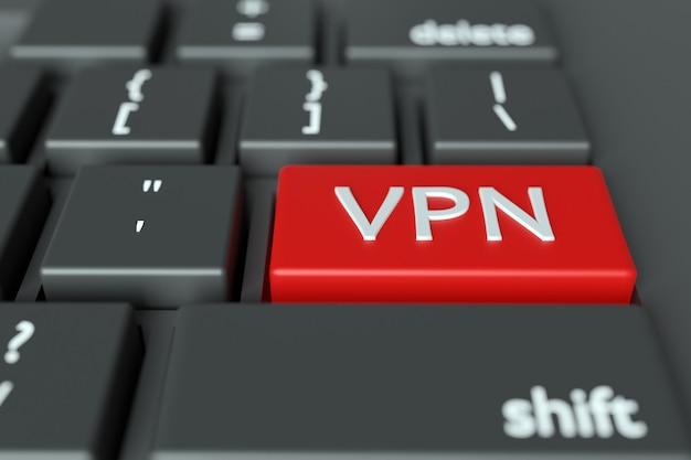 Слово vpn, написанное на клавиатуре компьютера. концептуальное изображение на компьютере ключ enter