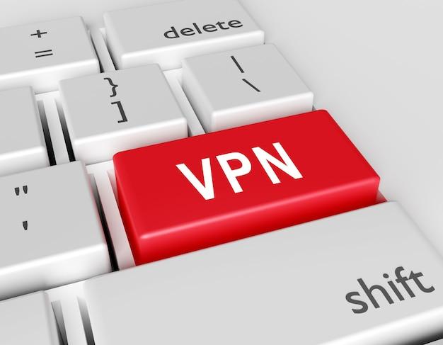 Слово vpn, написанное на клавиатуре компьютера