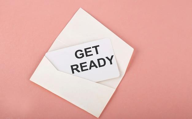 단어 쓰기 텍스트 분홍색에 카드 준비